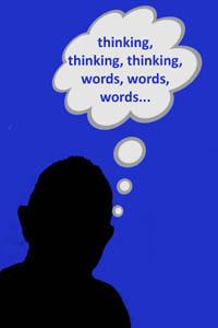 head thinking words